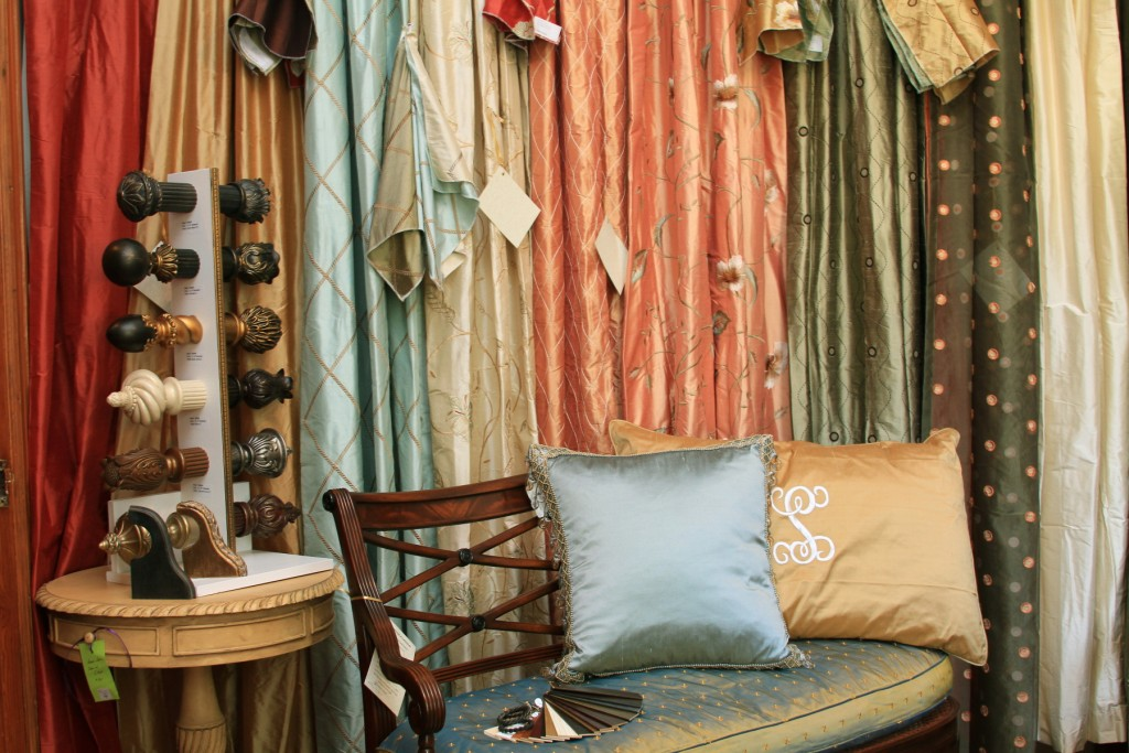 Savannah's largest and best selection of sought after ready-made Designer draperies and drapery hardware.