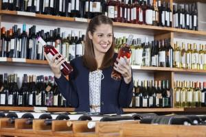Woman Choosing Wine in Nice Savannah Liquor Store for Sale